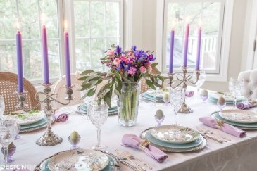 Superb Easter Table Decoration Ideas To Give Your Tablescape A Festive Vibe 30