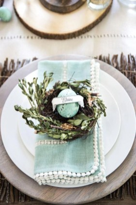 Superb Easter Table Decoration Ideas To Give Your Tablescape A Festive Vibe 36