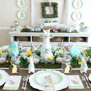 Superb Easter Table Decoration Ideas To Give Your Tablescape A Festive Vibe 40