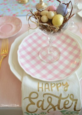 Superb Easter Table Decoration Ideas To Give Your Tablescape A Festive Vibe 42