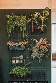 Beautiful Garden Wall Decoration Ideas To Beautify Your Home 11