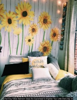 Charming Yellow Bedroom Ideas Are Guaranteed To Brighten Your Little One's Day 16