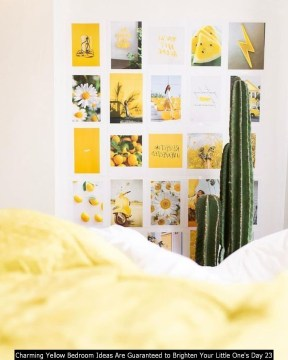 Charming Yellow Bedroom Ideas Are Guaranteed To Brighten Your Little One's Day 23