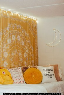 Charming Yellow Bedroom Ideas Are Guaranteed To Brighten Your Little One's Day 27