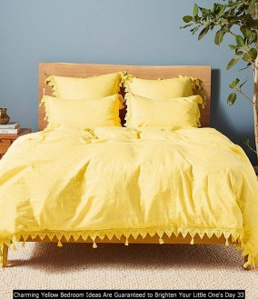 Charming Yellow Bedroom Ideas Are Guaranteed To Brighten Your Little One's Day 33