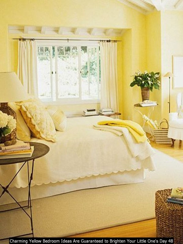 Charming Yellow Bedroom Ideas Are Guaranteed To Brighten Your Little One's Day 48