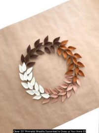 Clever DIY Minimalist Wreaths Guaranteed To Dress Up Your Home 03