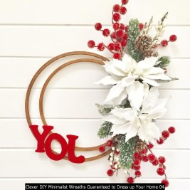 Clever DIY Minimalist Wreaths Guaranteed To Dress Up Your Home 04