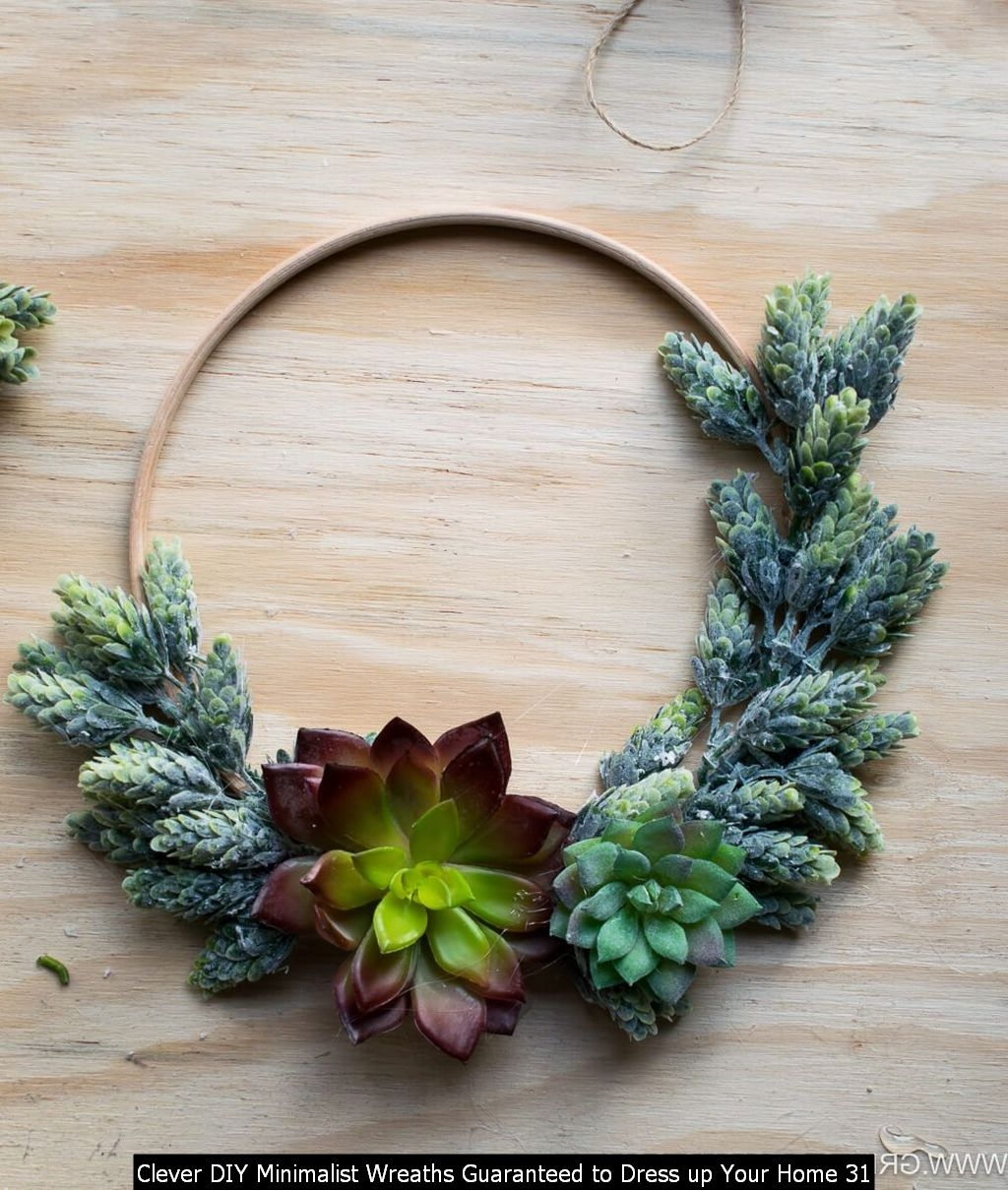 Clever DIY Minimalist Wreaths Guaranteed To Dress Up Your Home 31