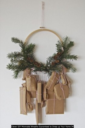 Clever DIY Minimalist Wreaths Guaranteed To Dress Up Your Home 34