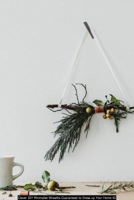 Clever DIY Minimalist Wreaths Guaranteed To Dress Up Your Home 42