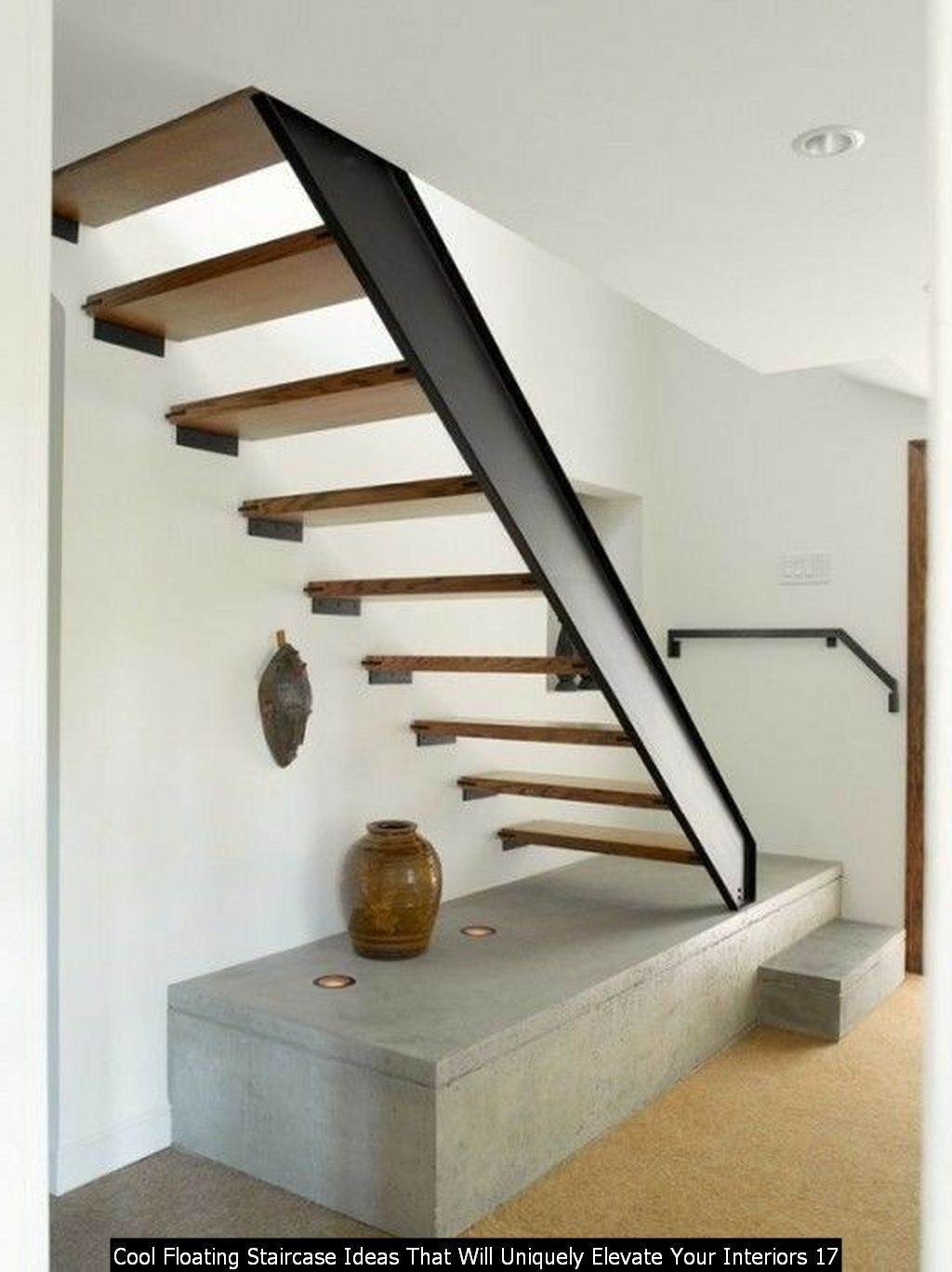 Cool Floating Staircase Ideas That Will Uniquely Elevate Your Interiors 17