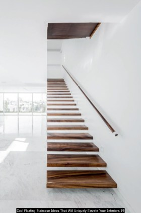Cool Floating Staircase Ideas That Will Uniquely Elevate Your Interiors 19