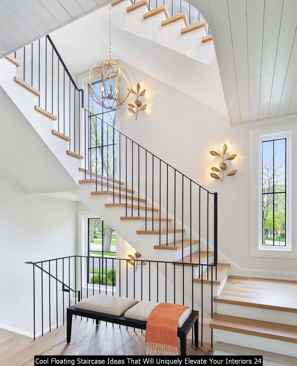 Cool Floating Staircase Ideas That Will Uniquely Elevate Your Interiors 24