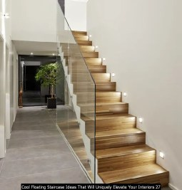 Cool Floating Staircase Ideas That Will Uniquely Elevate Your Interiors 27