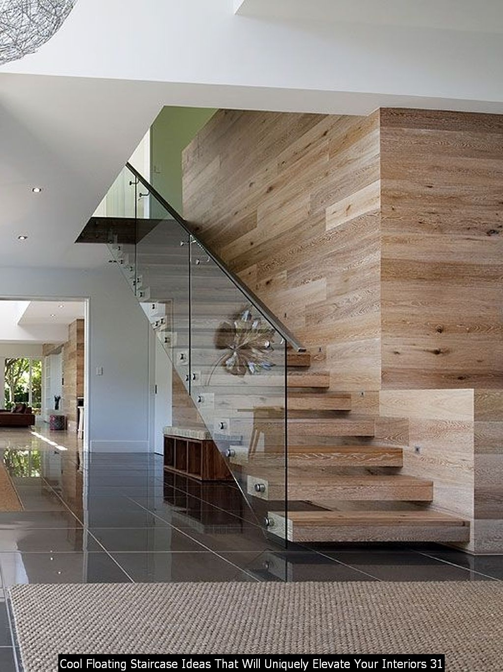 Cool Floating Staircase Ideas That Will Uniquely Elevate Your Interiors 31