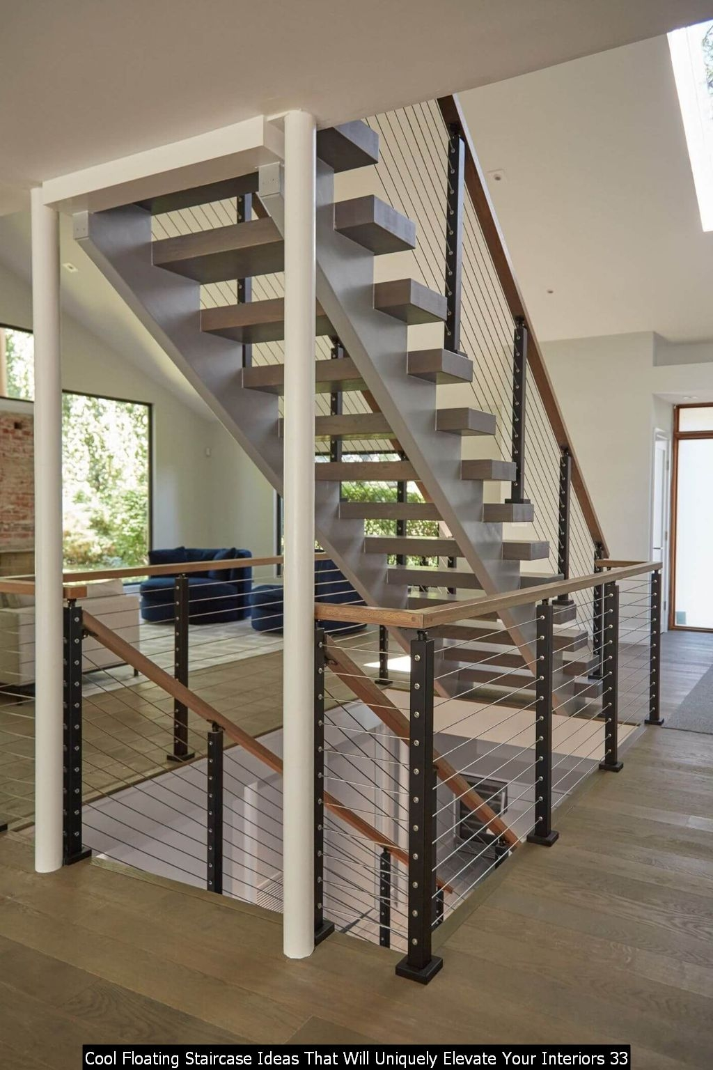 Cool Floating Staircase Ideas That Will Uniquely Elevate Your Interiors 33