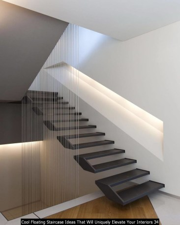 Cool Floating Staircase Ideas That Will Uniquely Elevate Your Interiors 34