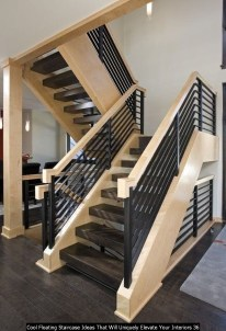 Cool Floating Staircase Ideas That Will Uniquely Elevate Your Interiors 36