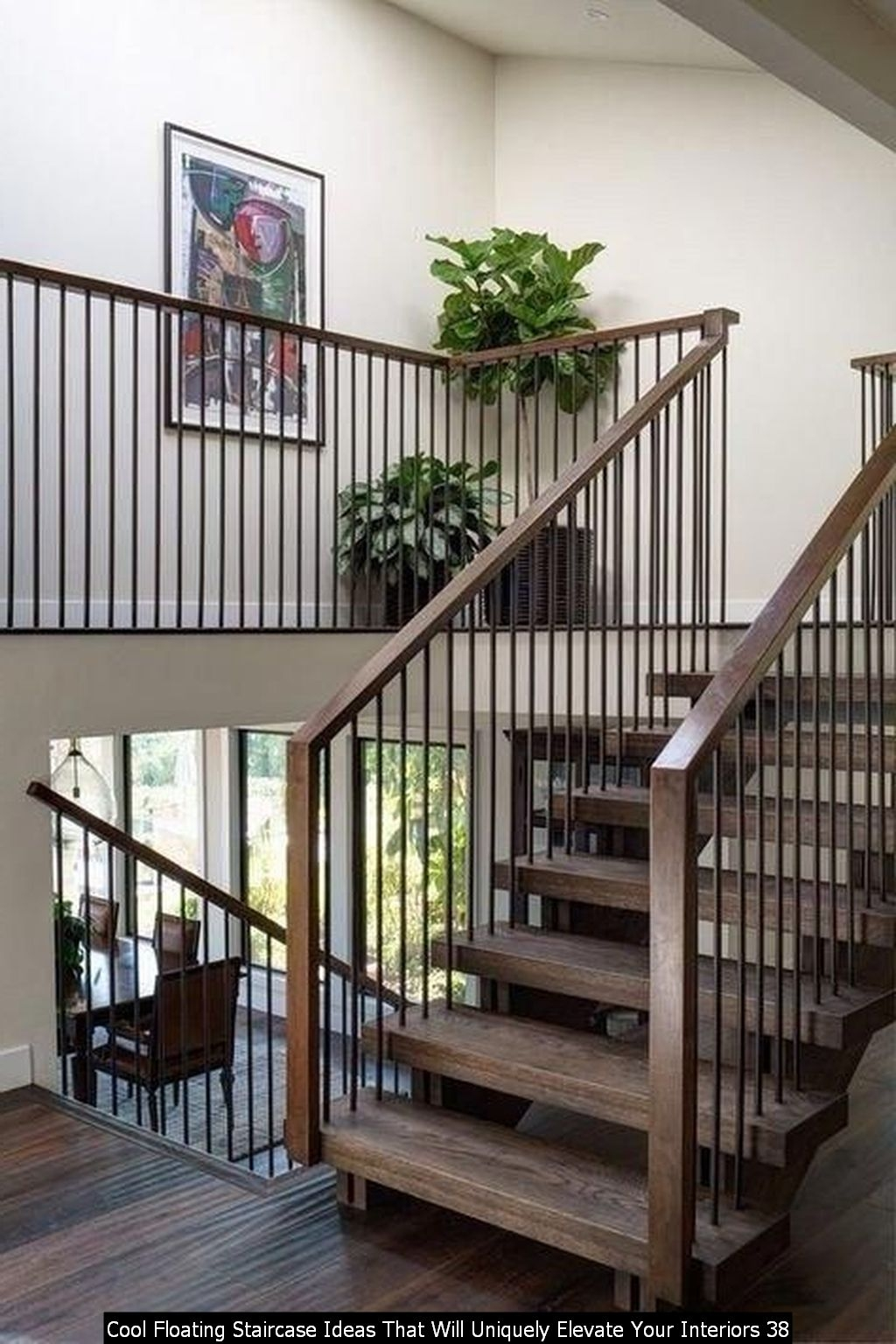 Cool Floating Staircase Ideas That Will Uniquely Elevate Your Interiors 38