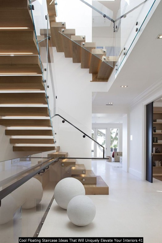 Cool Floating Staircase Ideas That Will Uniquely Elevate Your Interiors 41