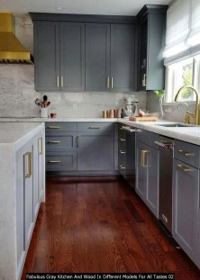 Fabulous Gray Kitchen And Wood In Different Models For All Tastes 02