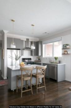 Fabulous Gray Kitchen And Wood In Different Models For All Tastes 06