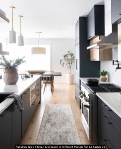 Fabulous Gray Kitchen And Wood In Different Models For All Tastes 21