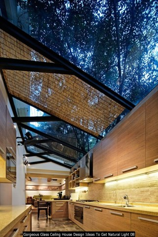 Gorgeous Glass Ceiling House Design Ideas To Get Natural Light 08