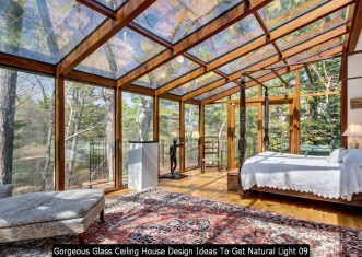 Gorgeous Glass Ceiling House Design Ideas To Get Natural Light 09