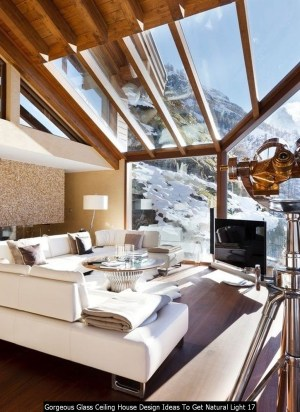 Gorgeous Glass Ceiling House Design Ideas To Get Natural Light 17