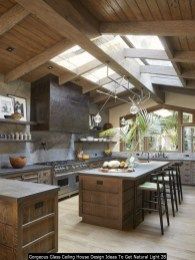 Gorgeous Glass Ceiling House Design Ideas To Get Natural Light 28
