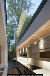 Gorgeous Glass Ceiling House Design Ideas To Get Natural Light 31
