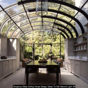 Gorgeous Glass Ceiling House Design Ideas To Get Natural Light 39