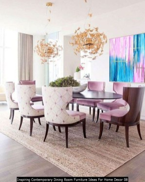 Inspiring Contemporary Dining Room Furniture Ideas For Home Decor 08