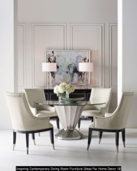 Inspiring Contemporary Dining Room Furniture Ideas For Home Decor 18