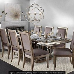 Inspiring Contemporary Dining Room Furniture Ideas For Home Decor 37