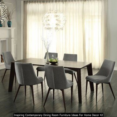 Inspiring Contemporary Dining Room Furniture Ideas For Home Decor 42