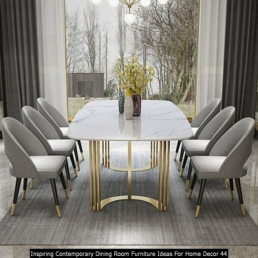 Inspiring Contemporary Dining Room Furniture Ideas For Home Decor 44
