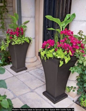 Modern Planters Ideas To Spruce Up Your Space With Subtle Style 18