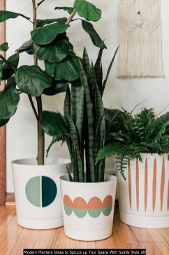 Modern Planters Ideas To Spruce Up Your Space With Subtle Style 28