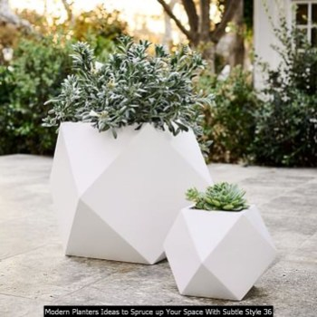 Modern Planters Ideas To Spruce Up Your Space With Subtle Style 36