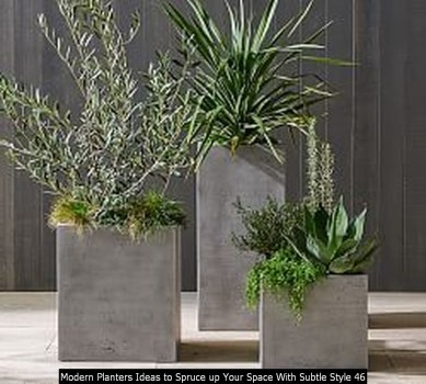 Modern Planters Ideas To Spruce Up Your Space With Subtle Style 46