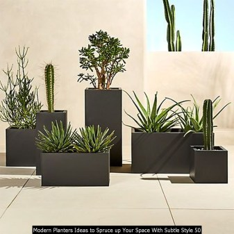 Modern Planters Ideas To Spruce Up Your Space With Subtle Style 50