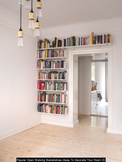 Popular Open Shelving Bookshelves Ideas To Decorate Your Room 01