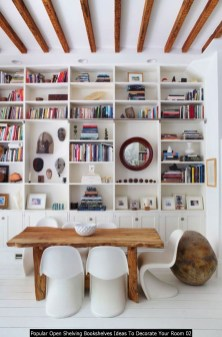 Popular Open Shelving Bookshelves Ideas To Decorate Your Room 02