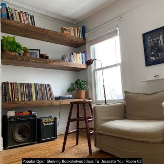 Popular Open Shelving Bookshelves Ideas To Decorate Your Room 03