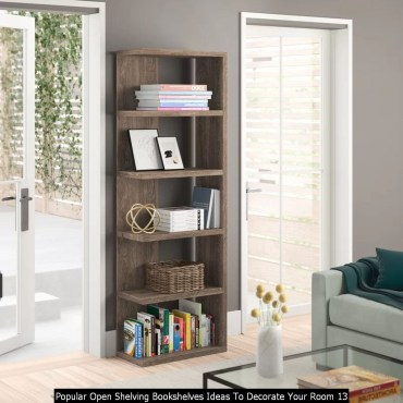 Popular Open Shelving Bookshelves Ideas To Decorate Your Room 13