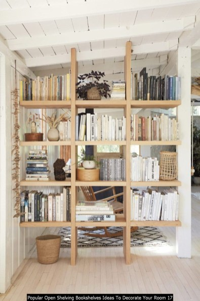 Popular Open Shelving Bookshelves Ideas To Decorate Your Room 17