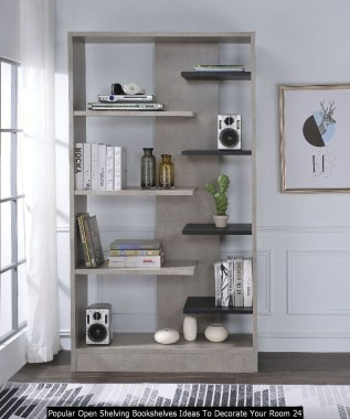 Popular Open Shelving Bookshelves Ideas To Decorate Your Room 24